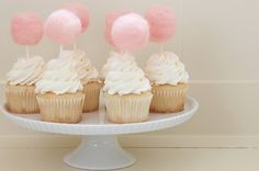 cotton candy cake toppers.