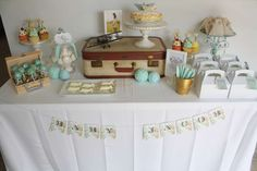 Travel/adventure/precious cargo/special delivery Baby Shower Party Ideas | Photo 4 of 32 | Catch My Party