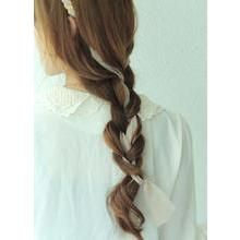 kitsch island - Gold-Tone Chain Hair Band with Tie