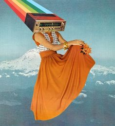 """""""OCTAVE ORANGE """" - by @bk_collage Select Prints, and more via $ link above For a print of something you don't see in store just leave me a comment/message me! #collage #collageart #art #popart …"""