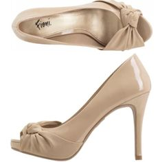 Nude Fioni Knot Peep Toe Heels 11W* Wore these for a wedding! Super cute but unfortunately are too big for me, had to geese these specific shoes for wedding and all they had were 11W at the time Fioni Shoes Heels
