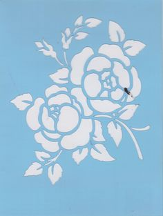 Floral scroll wall decal pretty flower design 8x30 inches choose stencil designs silhouettes mightylinksfo