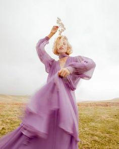 Flowy & dreamy sheer purple dress