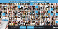 """Ammar Mohammed @ammr : """"welcome to everyone attend Social Media Marketing World. #smmw15"""" Posted on Twitter 03/25/2015"""
