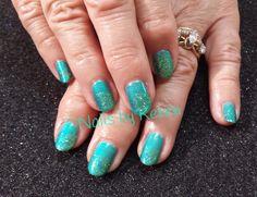 Glitter summer nails 2014