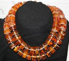 Russian Amber Jewelry | Vintage 156 G Russian Baltic Cherry Amber Long Necklace Prayer Beads ...