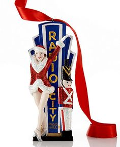 Kurt Adler Christmas Ornament, Radio City with Rockette - All Christmas Ornaments - Holiday Lane - Macy's