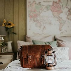 @_fairytalegirl's leather Brixton messenger in antique cognac | ONA bags