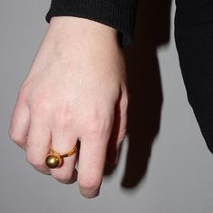 Gold Plated Brass Ring #cactoshop #jewelry