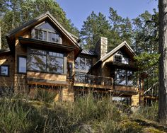 Exterior Brown Cabin With Wood Siding Black And White Trim Design, Pictures, Remodel, Decor and Ideas