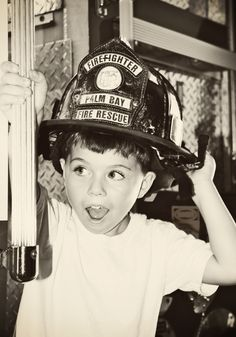 My little Fire Fighter #firefighter #photography