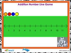 Promethean Flipcharts, Math - Number Line Addition Game