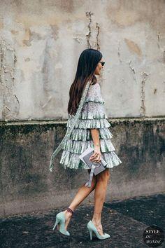 Paris FW 2019 Street Style: Gilda Ambrosio - Street Fashion Trends and Beauty Tips Street Style Chic, Looks Street Style, Cool Street Fashion, Fashion Week Paris, Gilda Ambrosio, Fashion Advisor, Best Summer Dresses, Mode Boho, Estilo Fashion