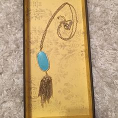Kendra Scott tassel necklace Kendra classic Rayne necklace. Does not come with bag. Kendra Scott Jewelry Necklaces