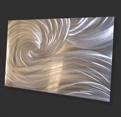 Abstract Silver Ocean Dance Video light reflect LED von luboart