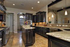 Dark Cabinets & HUGE kitchen!