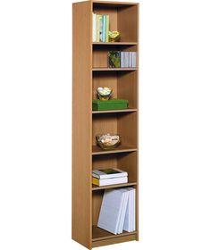 Maine Half Width Tall Extra Deep Bookcase Oak Effect At Argos Co