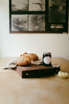 Fresh bread, jam & butter