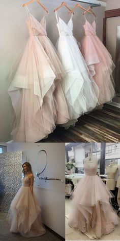 Spaghetti Straps Sweetheart Prom Dress,Asymmetry Tulle Evening Dress,Unique Long Prom Gown,Simple Cheap Prom Dress,Plus Size Prom Gowns,Party Dresses,Prom Dresses