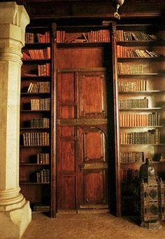 books and door and books