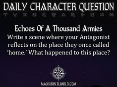 ✶ DAILY CHARACTER QUESTION ✶