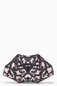 Lace print handbag