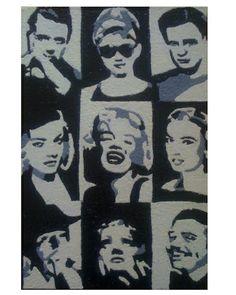 Hollywood legends EGGSHELL mosaic on MDF board