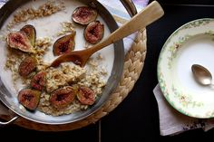 Brown Sugar Roasted Fig Oatmeal by joy the baker, via Flickr. this would make me so happy...