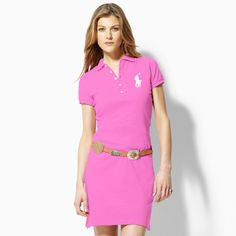 3567f9be3991 Ralph Lauren Big Pony Polo Dress Pink - can dress it up or dress it down -  love