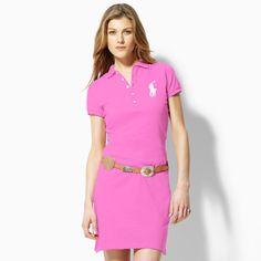 9549e666d99c Polo Ralph Lauren femme celio Robe en coton à Light Bleu lauren1612 Dress  P, Pink
