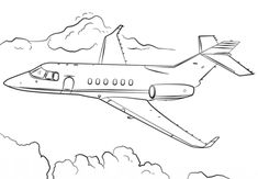 Jet Airplane coloring page from Airplanes category. Select from 24848 printable crafts of cartoons, nature, animals, Bible and many more.