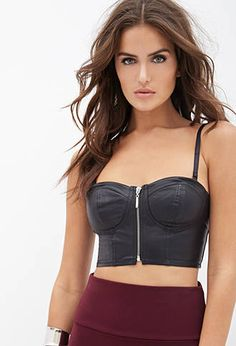 Faux Leather Bustier | FOREVER 21 - 2000138089 $14.90
