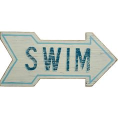 Dot & Bo Directions Swim Sign (33 AUD) ❤ liked on Polyvore featuring home, home decor, wall art, fillers, backgrounds, text, words, phrase, quotes and saying
