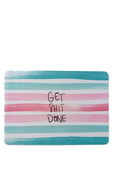 Amazing printed mat for your desk! <br> This is made from neoprene, so this is like a giant mouse pad for your work space. <br> Comes in designs to match back with your Typo desk accessories. <br> Dimensions: 59.4cm x 40cm <br> Composition: 100% Neoprene <br/>