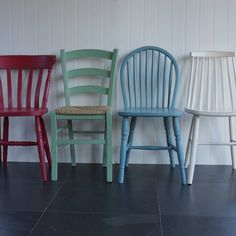 mismatched chairs hand painted in any colours