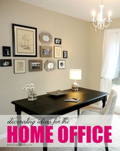Tons of great ideas for decorating your home office on a design interior design Furniture Projects, Furniture Makeover, Home Projects, Diy Furniture, Black Furniture, Painting Furniture, Home Office Decor, Diy Home Decor, Office Desk
