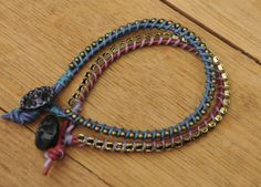 Leather and Chain Bracelet Tutorial - Creativity in Pieces | Creativity in Pieces