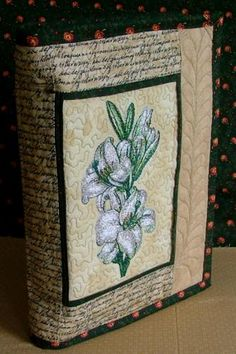 Advanced Embroidery Designs. Free Projects and Ideas. Quilted Bible Cover with Embroidery.