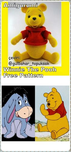 In this article we will share the amigurumi winnie the pooh crochet free pattern. Amigurumi related to everything you can not find and share with you. Amigurumi Free, Crochet Animal Amigurumi, Crochet Toys, Amigurumi Patterns, Free Crochet, Crochet Baby Blanket Tutorial, Crochet Baby Dress Pattern, Baby Boy Crochet Blanket, Irish Crochet Patterns