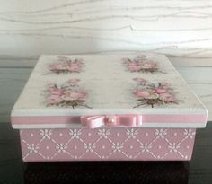 Caixa decorada em mdf - roses1
