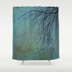 Hanging Tree  - JUSTART © Shower Curtain by JUSTART   - $68.00  #justart #society6 #showercurtain #home #decor #shower #bathroom #tree #texture #nature #blue #green
