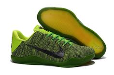 http://www.jordan2u.com/nike-kobe-11-elite-black-green-basketball-shoes-for-sale.html NIKE KOBE 11 ELITE BLACK GREEN BASKETBALL SHOES FOR SALE Only $98.00 , Free Shipping!