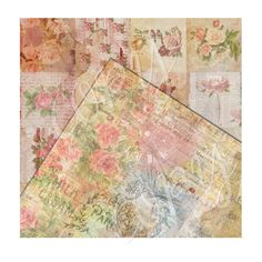 Two Sheets 12x12 inch  Collage Paper Pack  by CountryAtHeart2008