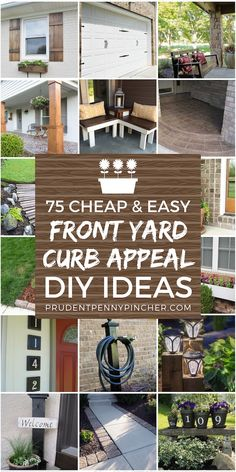 Make your home eye-catching with these creative front yard DIY ideas that will improve your curb appeal without too much money or effort. From planters to landscaping and easy exterior makeover ideas, there is a