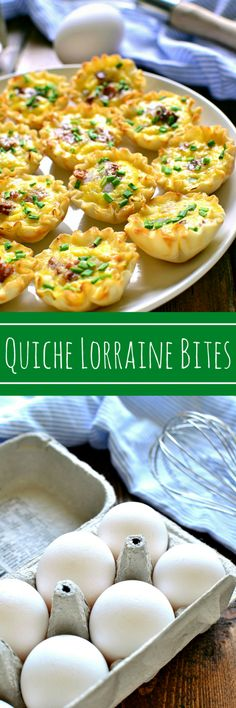 Quiche Lorraine Bites are packed with all the delicious flavors of Quiche Lorraine, and perfect for serving at a breakfast, brunch, or even cocktail party! They can be served right out of the oven or at room temperature....either way, they're completely delicious!