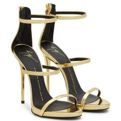 Giuseppe Zanotti HARMONY Mirrored Gold High Heel Women Sandals Chaussures  Ouvertes, Talons, Mode, 4aab2bc3872a