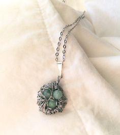 Hand Woven Nested Stone Necklace by SamanthasLittleShop on Etsy