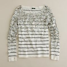 J. Crew - Striped and sparkly shirt