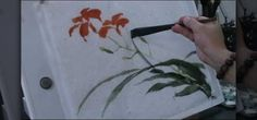 How to Paint Daylily in Traditional Chinese Painting Using Hake Brush Japanese Painting, Chinese Painting, Japanese Art, Chinese Brush, Chinese Art, Chinese Style, Watercolor Projects, Watercolor Paintings, Watercolors