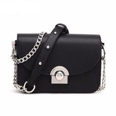 Designer Ladies Chain Messenger Bag. 2016 New Fashion Women Messenger Bags  Chain Lock Leather Handbags Famous Brands Designer Mini Shoulder ... 7249907f39c20